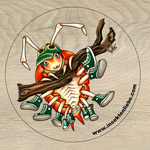 Woodlouse-converse-sticker