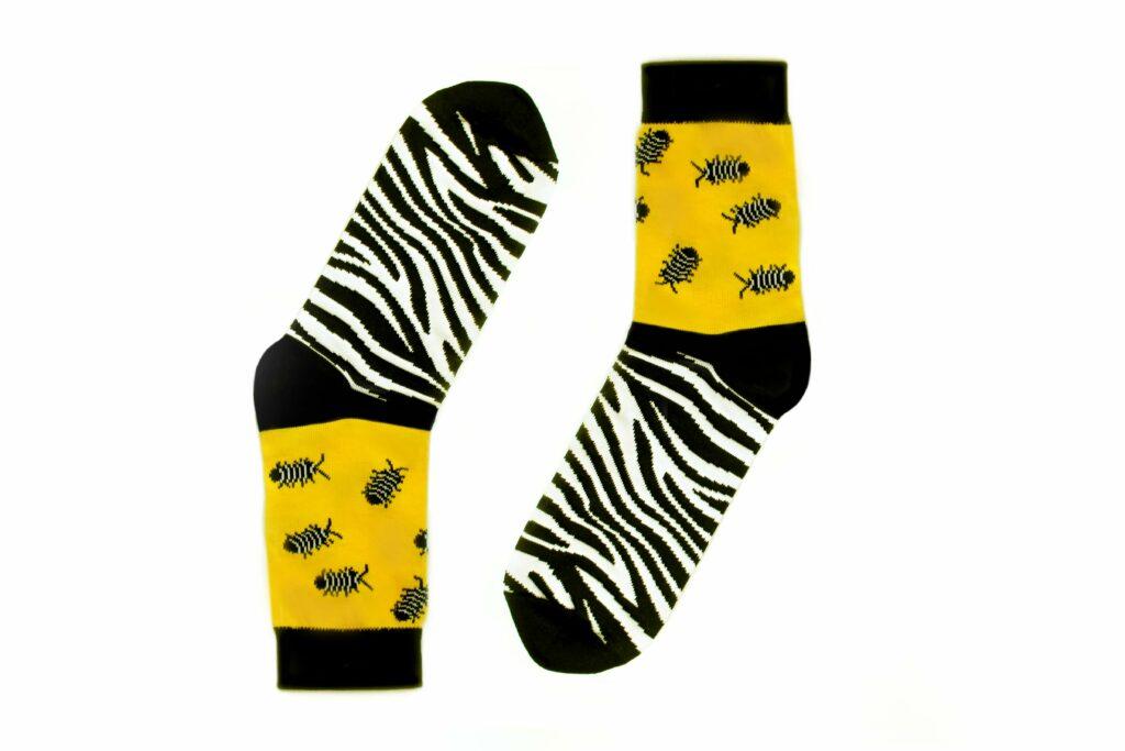 Zebra-Assel Socken